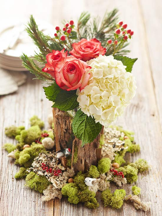 Blooming Tree Holiday Centerpiece