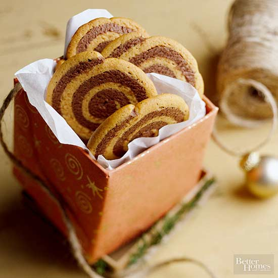 Peanut Butter and Chocolate Pinwheels