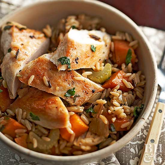 Chicken and Roasted Vegetable Rice