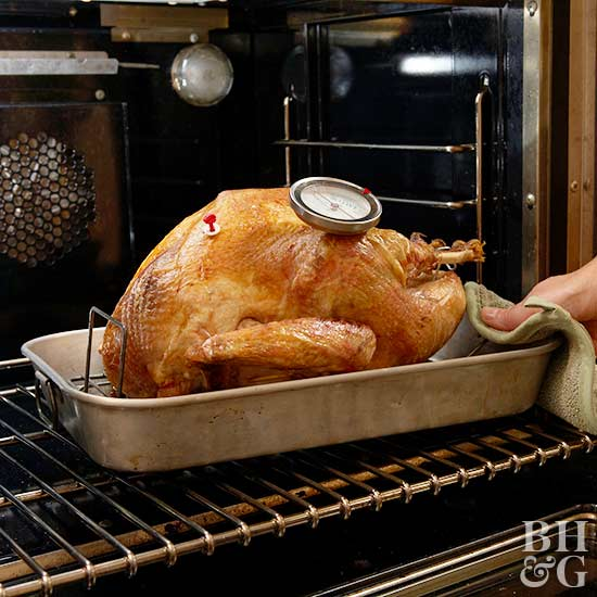 Better homes and gardens, holidays, thanksgiving, turkey, roast turkey, stuff turkey, food, recipes, how-to, cooking