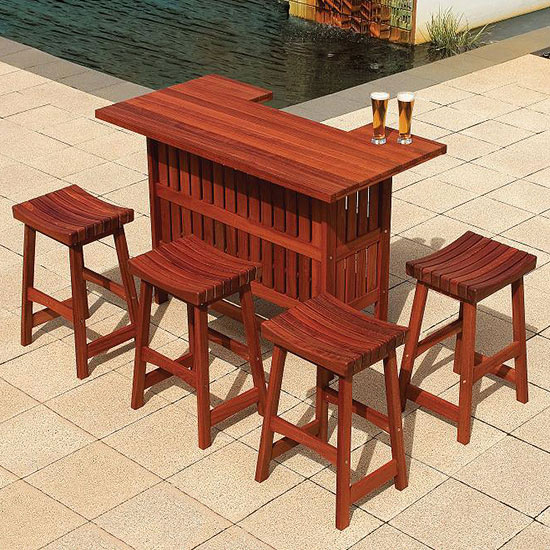 Jarrah bar and stools