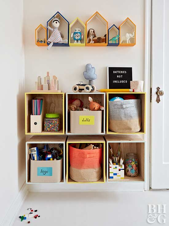 DIY Kids\' Rooms Storage Projects