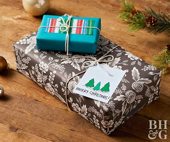 fun modern holiday gift wrap