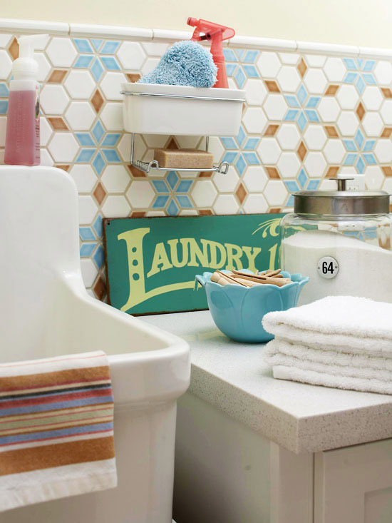 laundry tile decor