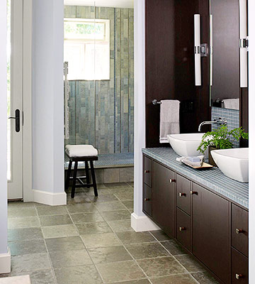 Limestone Bathroom Floor