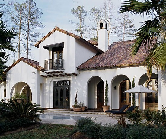 With Ties To Historic Architectural Traditions Of The Mediterranean This Style Features Red Roof Tiles Stucco Walls Arches And Enclosed Outdoor Spaces