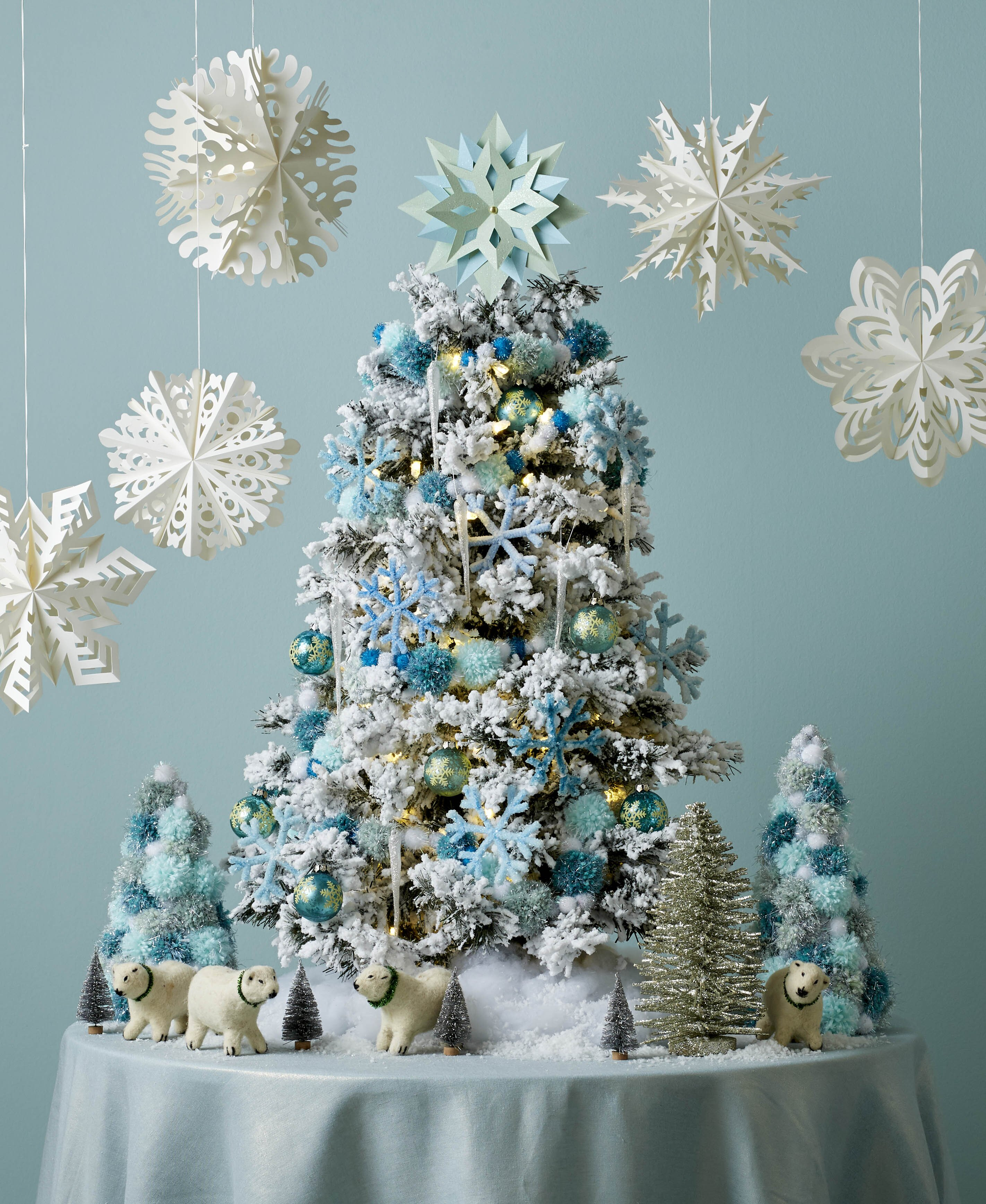 Christmas Tree Spray Snow.These Tabletop Christmas Trees Will Transform Your Holiday Table