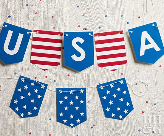 usa fourth of july banner