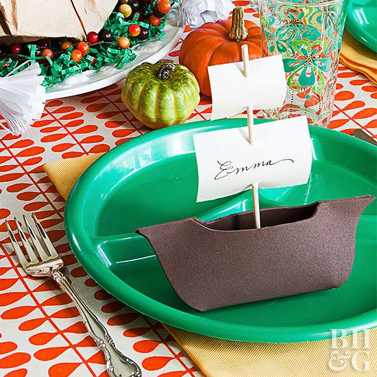 boat place card holder