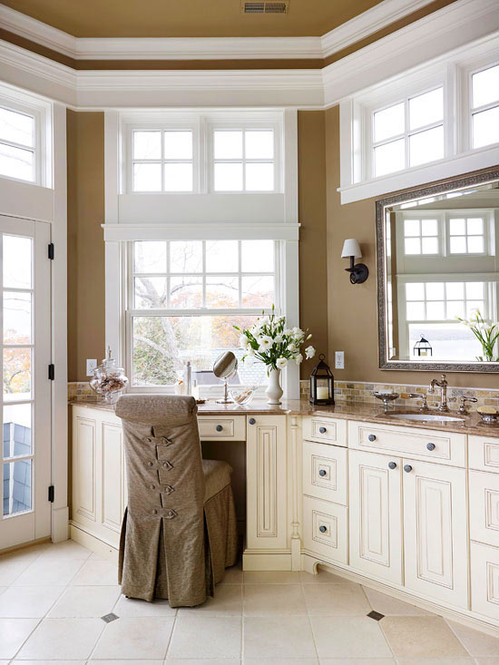 Dressing table, cabinetry