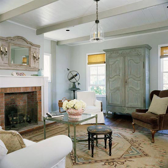Gray, Living rooms, antiques, distressed