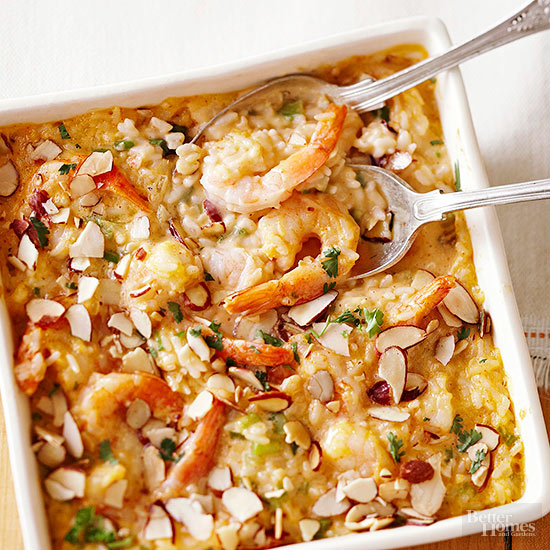 Baked Shrimp with Rice