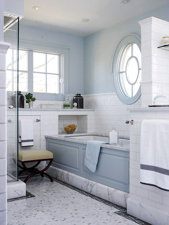 astounding light blue bathroom ideas | Blue Bathroom Design Ideas | Better Homes & Gardens