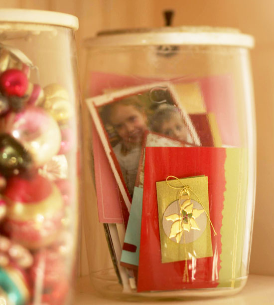 Christmas Card Canister