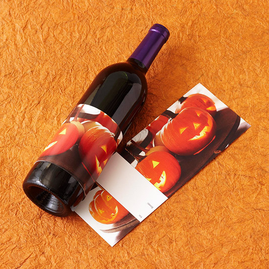 Jack-o¿-lantern Wine Label