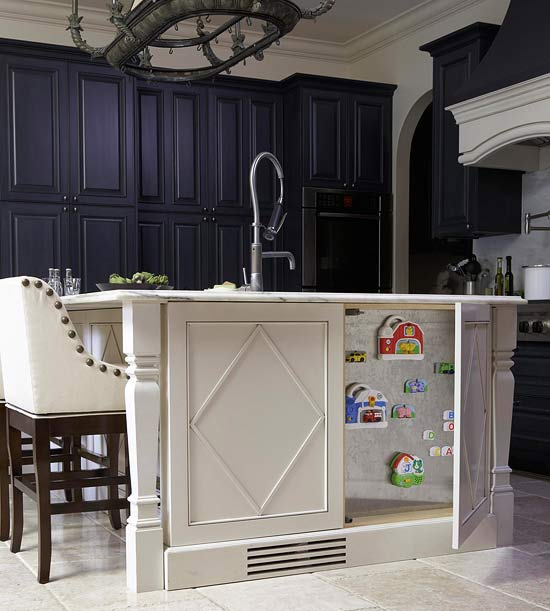 Secret Storage of a Kitchen Island