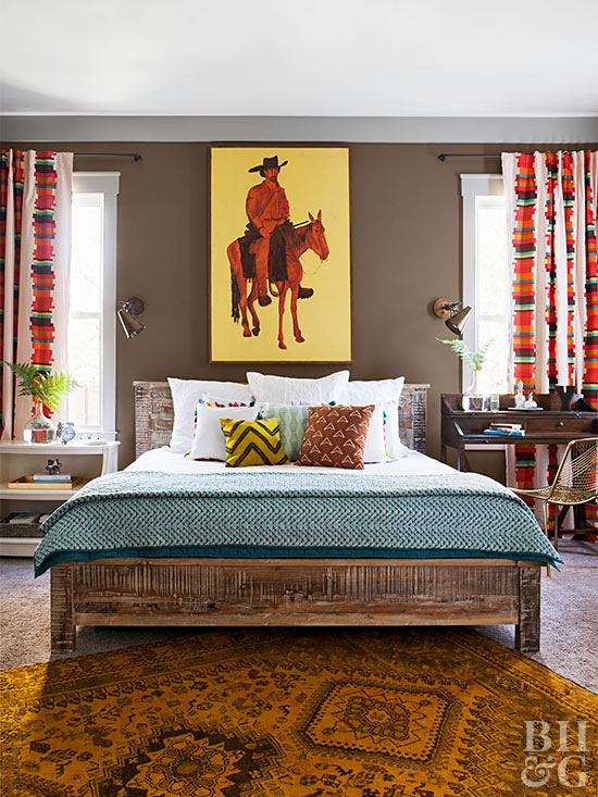 Bedroom man on horse paintingv