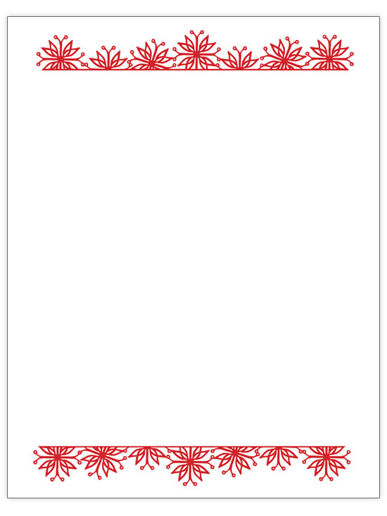 33 Free Templates to Help You Send Holiday Cheer Christmas Letter Borders Templates on