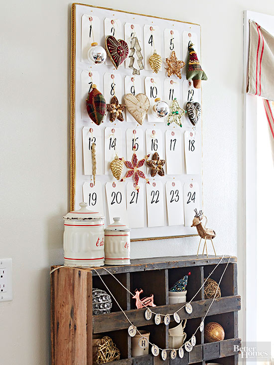 Create an Advent Calendar with Ornaments