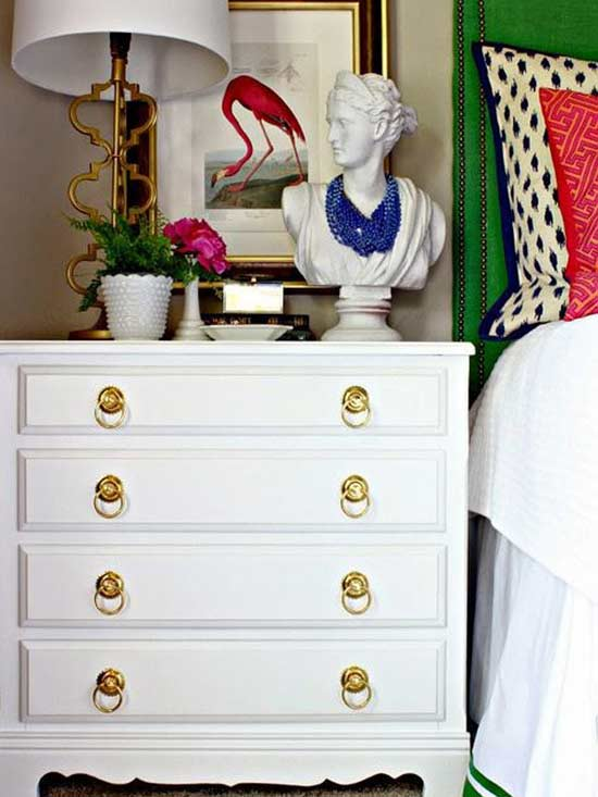 Nightstand Putty and Paint Dimples and Tangles