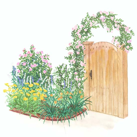 Romantic Arbor Garden Plan