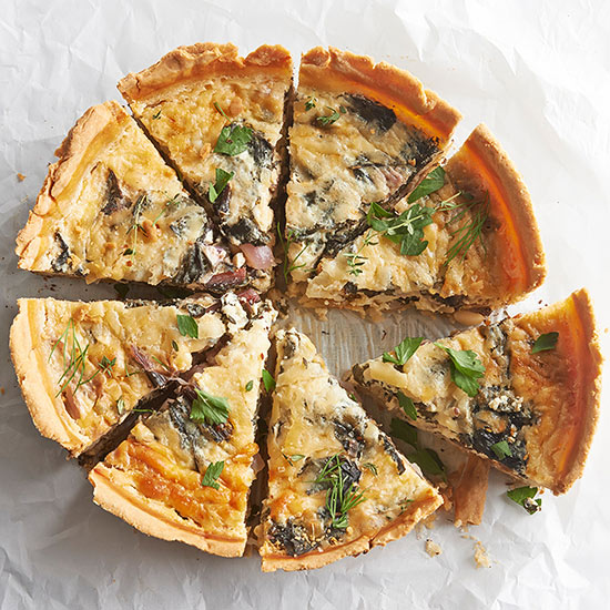 Sweet and Savory Greens Quiche