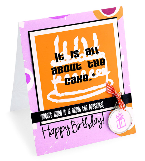 birthday card with cake