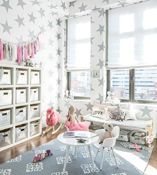 one time use only blogger image- girls room with stars