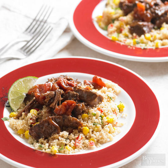 BBQ Beef Roast with Corn and Pepper