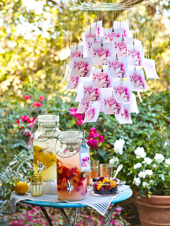 Side Table Outdoor Setting