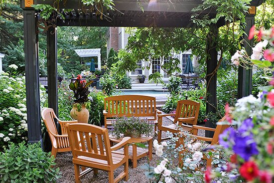 Turn A Tiny Patio Into Gorgeous Outdoor Room By Adding Freestanding Pergola Here Small Wooden Was Constructed Over Gravel And