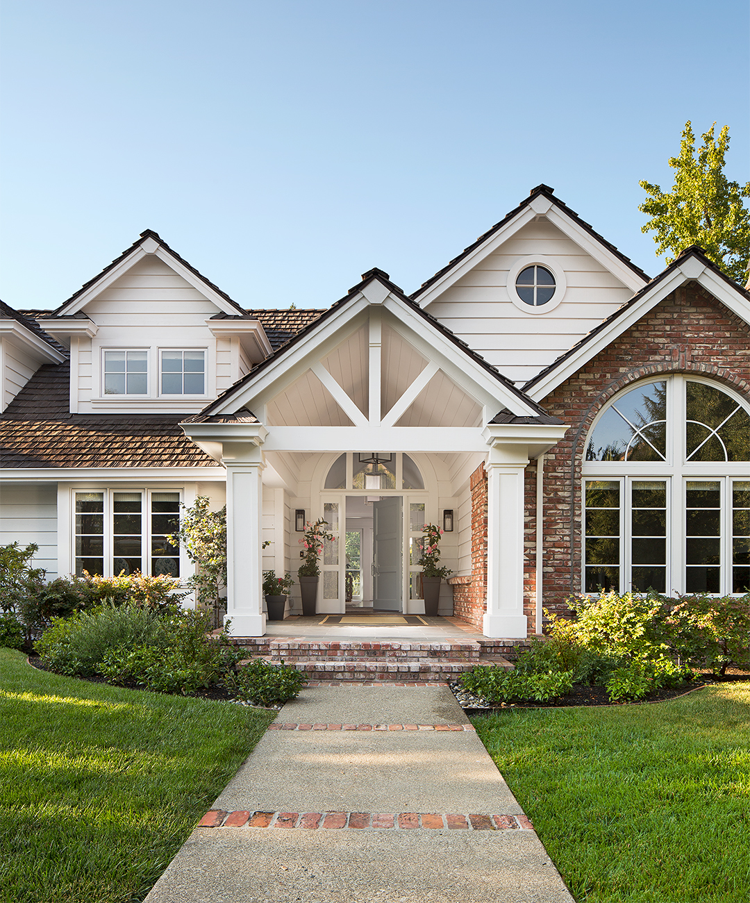 Home Exterior Makeovers You Have to See to Believe on flat curb street, flat front beach house, flat front bungalow house, flat front stone house, flat front brick house, flat front row house,