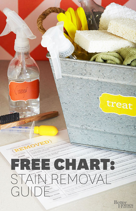 free chart: stain removal guide