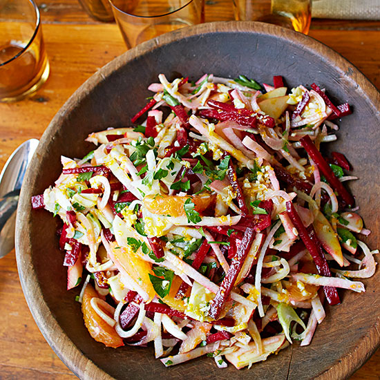 Beet, Fennel, and Apple Slaw