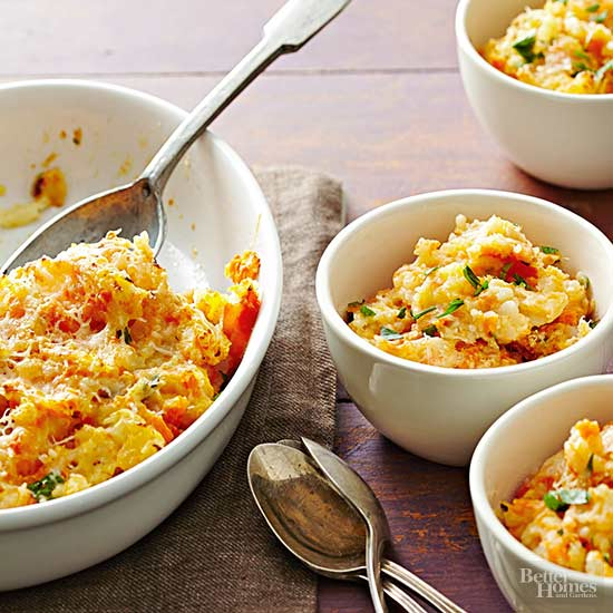 Mashed Root Vegetables with Parmesan