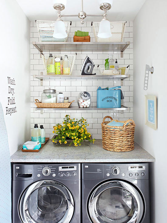 Stylish Small-Space Laundry