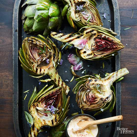 Grilled Summer Artichokes