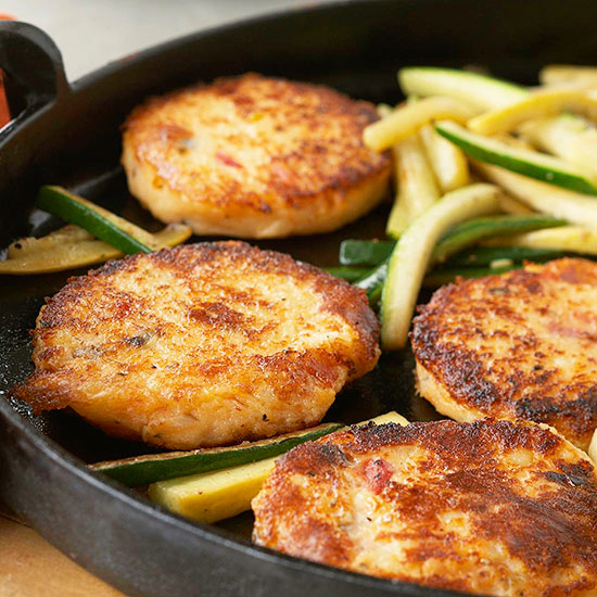 Potato Cakes with Summer Squash