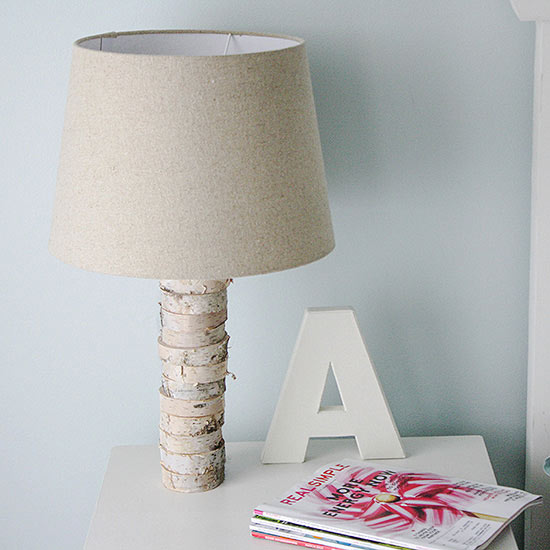 wood stacked lamp