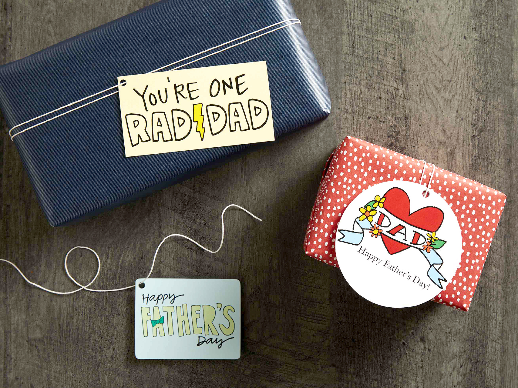 illustrative fathers day tags for gifts