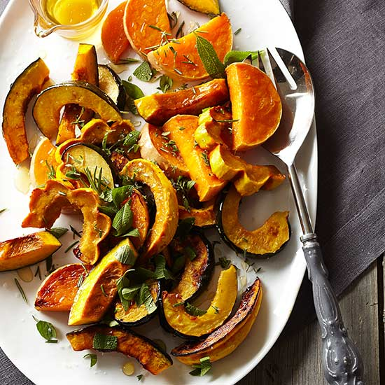 Roasted Heirloom Squash with Sea Salt and Local Honey