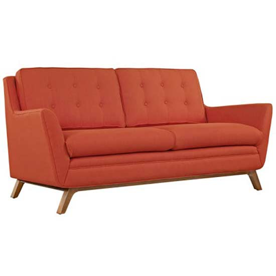 red/orange couch