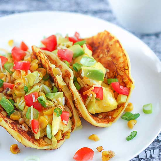 Corn Pancake Breakfast Tacos