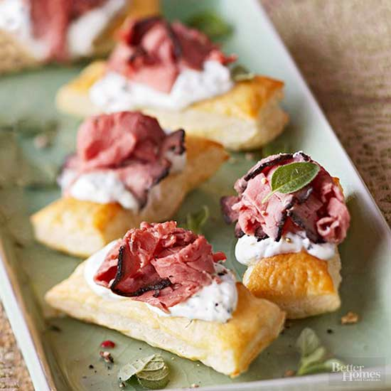 Peppercorn Pastries with Beef