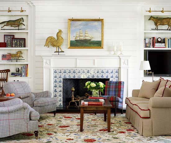 Fireplace Surround Retiling Better Homes Gardens