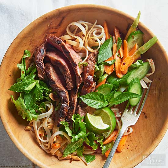 Thai Rice Noodle and Grilled Steak Salad