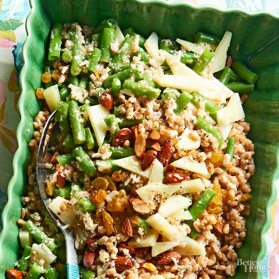 Chopped Green Bean Salad with Manchego