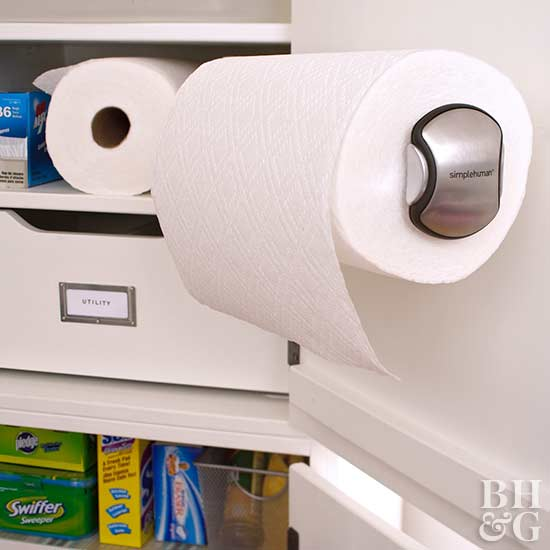 Paper towels, towel holder, and rack