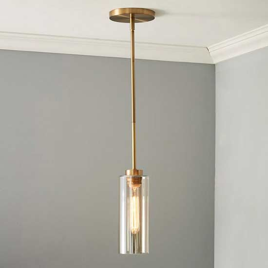 WE Glass Cylinder Pendant