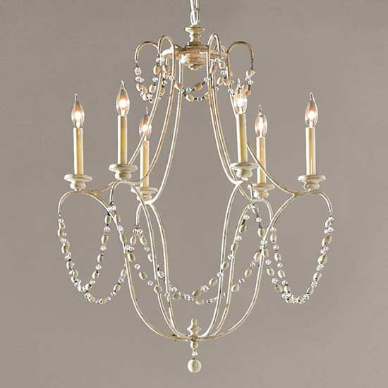 PotteryBarn-Rowan Iron Beaded Chandelier
